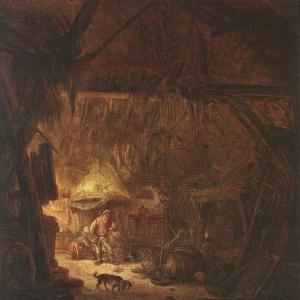 Исаак ван Остаде - Внутри дома крестьянина