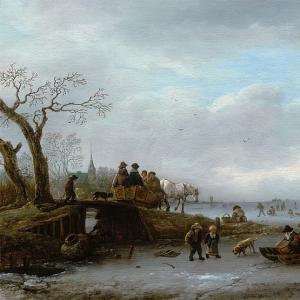 Исаак ван Остаде - Сцена на льду