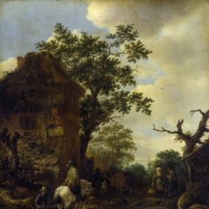 Исаак ван Остаде - Всадник на окраине деревни