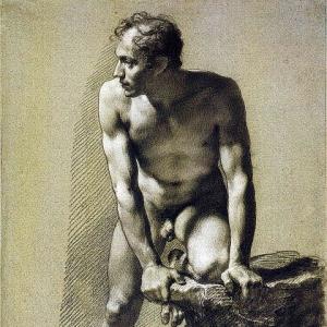 Пьер Поль Прюдон - Обнажённый мужчина