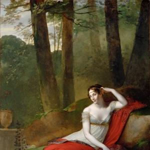 Пьер Поль Прюдон - Портрет императрицы Жозефины в садах Мальмезона