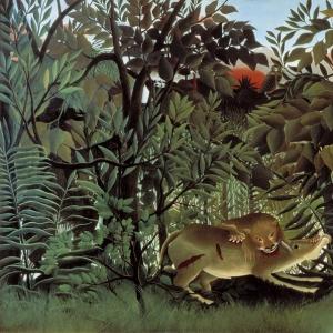 Анри Руссо - Проголодавшийся лев