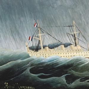 Анри Руссо - Корабль в шторме