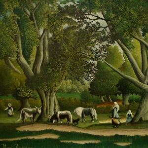 Анри Руссо - Пейзаж с доярками