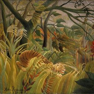 Анри Руссо - Нападение в джунглях