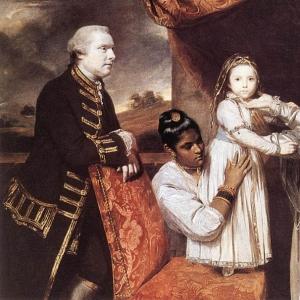 Рейнольдс Джошуа - Портрет семьи Джорджа Клайва со служанкой-индианкой
