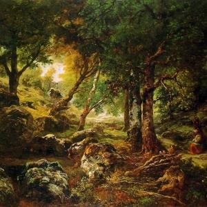 Руссо Теодор - Лесной пейзаж