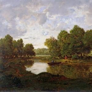 Руссо Теодор - Пейзаж близ Барбизона