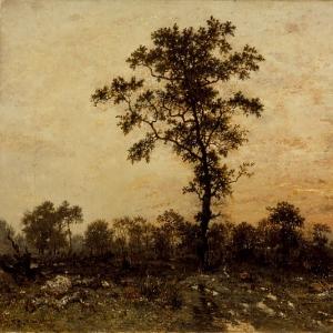 Руссо Теодор - Опушка леса на закате