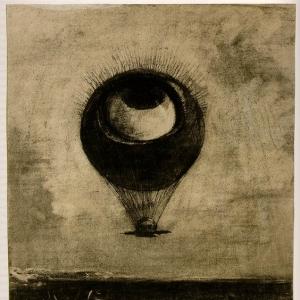 Одилон Редон - Глаз-Воздушный шар, 1878