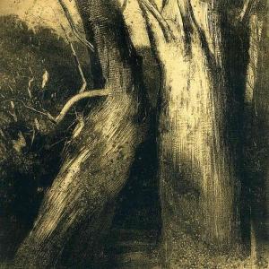 Одилон Редон - Два дерева