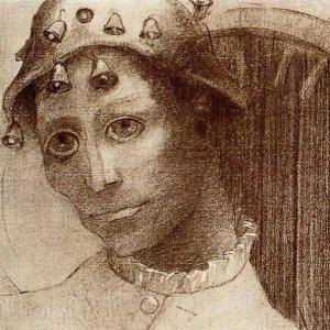 Одилон Редон - Безумие (Мефистофель)
