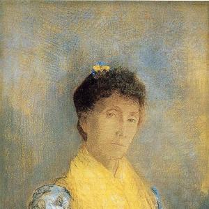Одилон Редон - Женщина в желтом, ок.1899