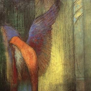 Одилон Редон - Бородатый крылатый старик