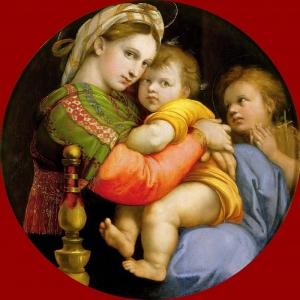Рафаэль Санти - Мадонна с Младенцем и маленьким Иоанном Крестителем