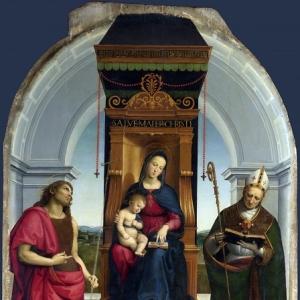 Рафаэль Санти - Мадонна Ансидеи (панель алтаря из церкви Сан Фьоренцо в Перудже)