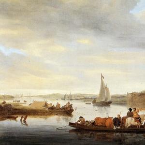 Саломон ван Рейсдаль - Переправа