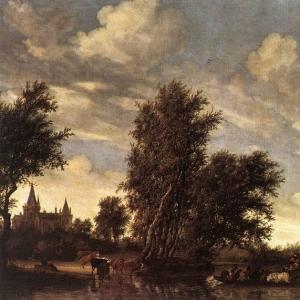 Саломон ван Рейсдаль - Паром