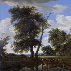 Саломон ван Рейсдаль - Вид деревни, 1663