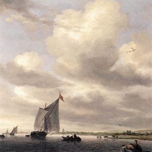 Саломон ван Рейсдаль - Морской пейзаж