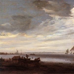 Саломон ван Рейсдаль - Река сена