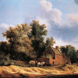 Саломон ван Рейсдаль - Пейзаж с фермой