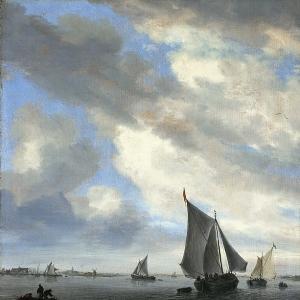 Саломон ван Рейсдаль - Парусники на озере