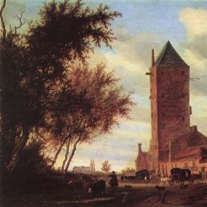 Саломон ван Рейсдаль - Башня на дороге