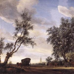 Саломон ван Рейсдаль - Остановка в таверне