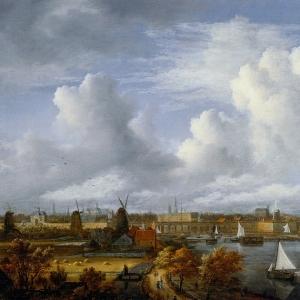 Саломон ван Рейсдаль - Вид на амстердам