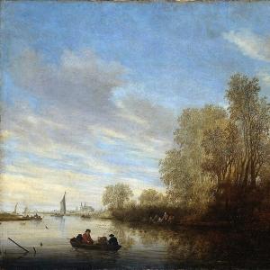 Саломон ван Рейсдаль - Вид на реку