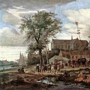 Саломон ван Рейсдаль - Таверна с майским деревом