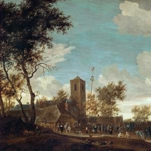 Саломон ван Рейсдаль - Кермесса под майским деревом