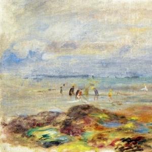 Ренуар Пьер Огюст - Ловцы креветок среди камней, 1892