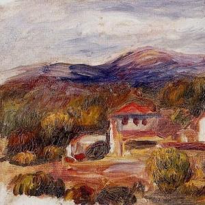 Ренуар Пьер Огюст - Дом и деревья в ппредгорье, 1904