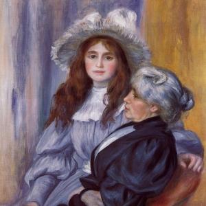 Ренуар Пьер Огюст - Берта Моризо и ее дочь Жюли Мане, 1894