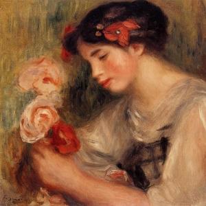 Ренуар Пьер Огюст - Портрет Габриэль (или Юная девушка с цветами)