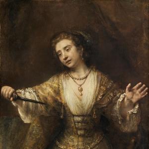 Рембрандт Харменс ван Рейн - Лукреция