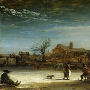 Рембрандт Харменс ван Рейн - Зимний пейзаж