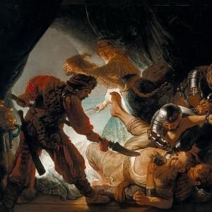 Рембрандт Харменс ван Рейн - Ослепление Самсона