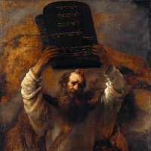 Рембрандт Харменс ван Рейн - Моисей, разбивающий скрижали