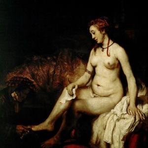 Рембрандт Харменс ван Рейн - Вирсавия в купальне