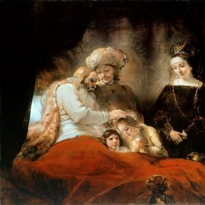 Рембрандт Харменс ван Рейн - Иаков благославляет детей Иосифа