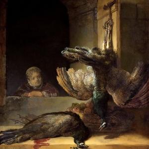 Рембрандт Харменс ван Рейн - Натюрморт с битой птицей