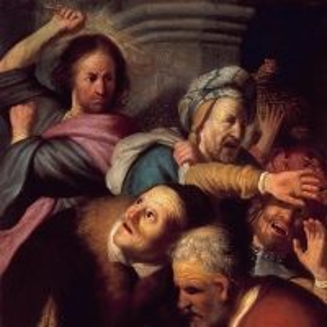 Рембрандт Харменс ван Рейн - Изгнание торгующих из храма