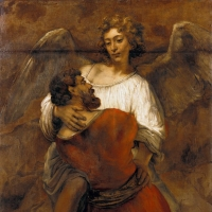 Рембрандт Харменс ван Рейн - Борьба Иакова с ангелом