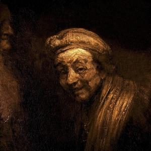 Рембрандт Харменс ван Рейн - Автопортрет в образе смеющегося Зевксиса