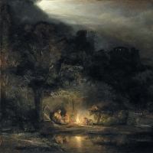 Рембрандт Харменс ван Рейн - Отдых на пути в Египет