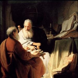 Рембрандт Харменс ван Рейн - Диспут двух стариков (Апостолы Петр и Павел)