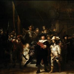 Рембрандт Харменс ван Рейн - Ночной дозор (Выступление стрелковой роты капитана Франса Баннинга Кока и лейтенанта Виллема ван Рёйтенбурха)